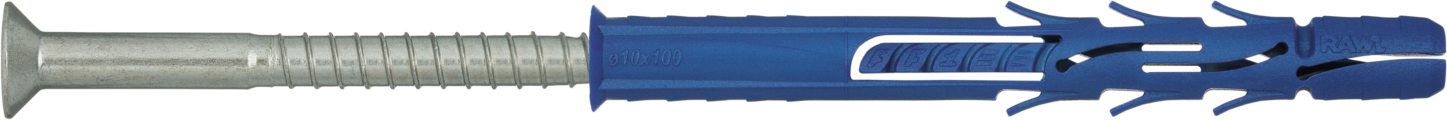 R-FF1-L-DT Nylon frame fixing countersunk in corrosion-resistant coating