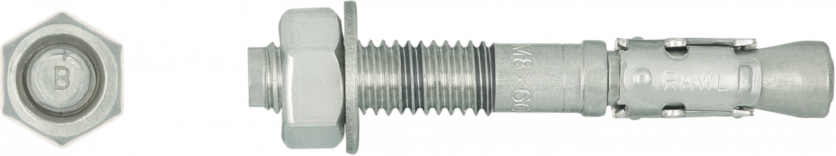 R-XPTII-A4 Stainless Steel Throughbolt