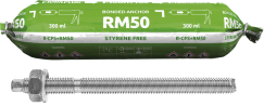 RM50 with Threaded Rods for Concrete (CFS+)