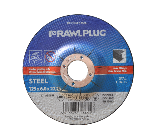 RT-GDM Grinding wheels for steel