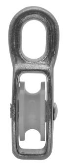 T-BL-1 Блочок одинарний з нейлоновим колесиком