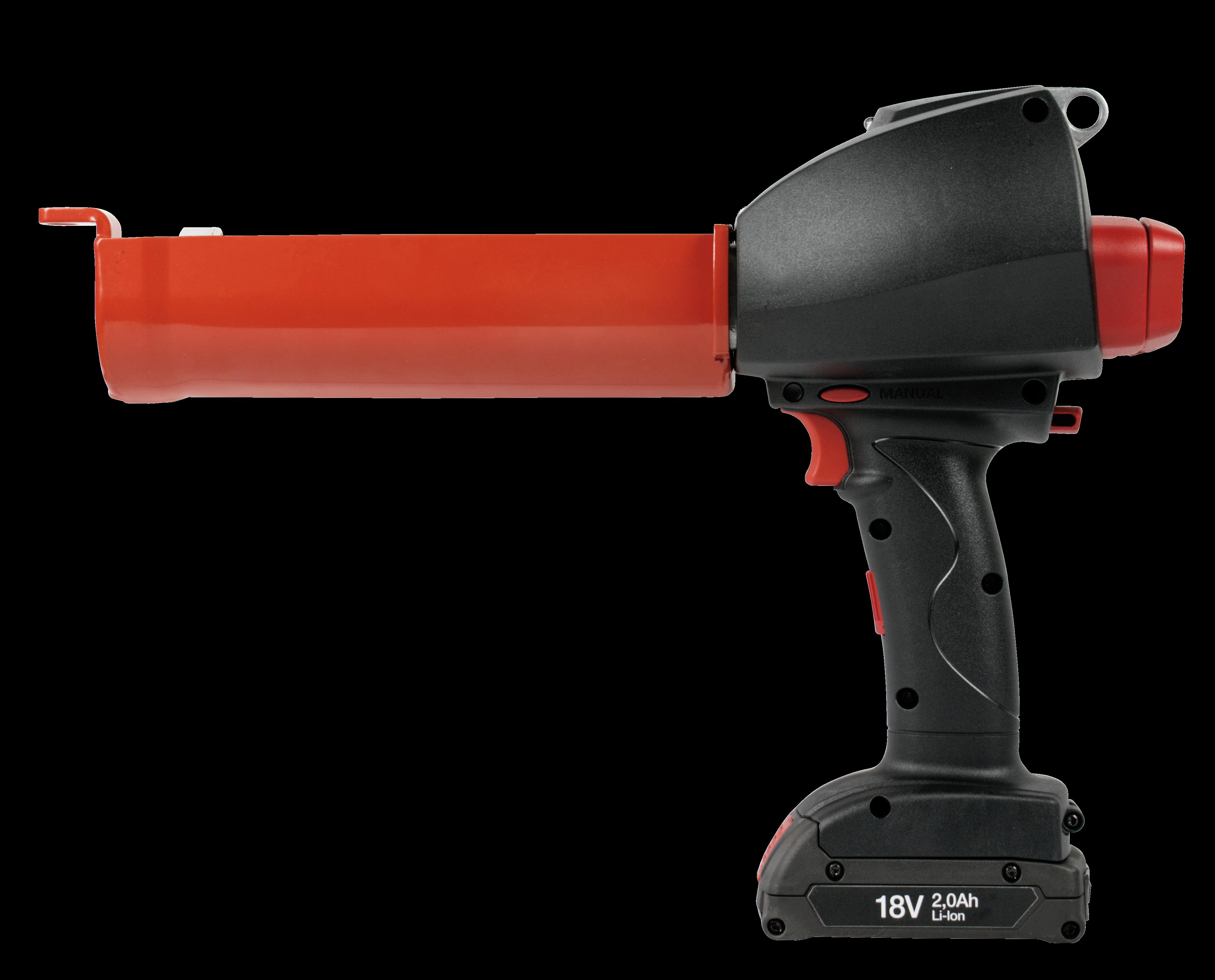 R-GUN Battery Extrusion Gun with Dosing 380 ml