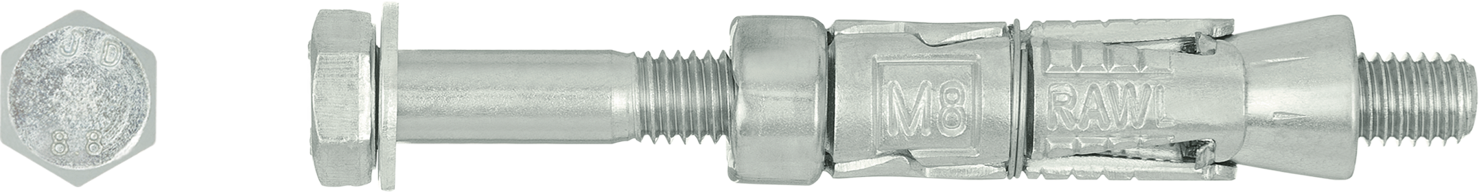 R-RBL Rawlbolt® - Loose Bolt for use in hollow core slab and ceramic substrates