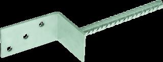 """D-TL Wsporniki słupa do zabetonowania z prętem – kształt """"L"""""""
