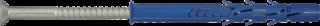 R-FF1-N-L Kołek ramowy z ocynkowanym wkrętem z łbem stożkowym