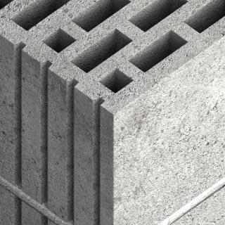 Пустотелые блоки из легкого бетона