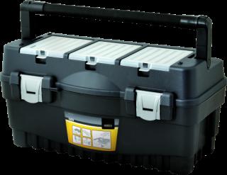 MN-03-13 Įrankių dėžė su stalčiu ir plienine rankena