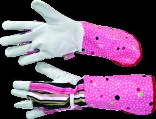 MN-06-161 Paršiuko verstos odos pirštinės su ilgais rankogaliais