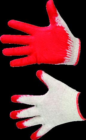 MN-06-187 Medvilninės pirštinės, padengtos guma