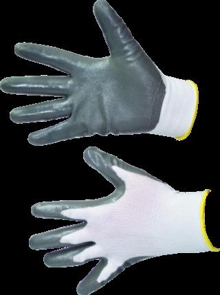 MN-06-195 Medvilninės, dengtos nitrilu pirštinės