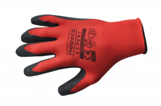 MN-06-212 Polyester latex palm-coated gloves