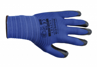 MN-06-218 Polyester latex palm-coated gloves