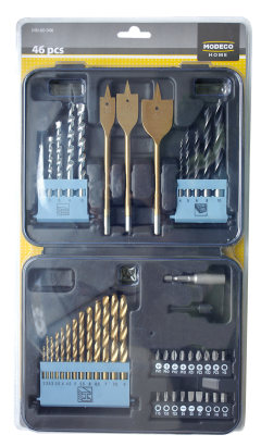 MN-60-946 46PCS SET OF DRILL BITS AND ACCESSORIES