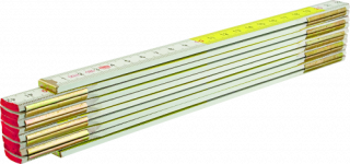 MN-80-15 Wooden folding rule – white-yellow