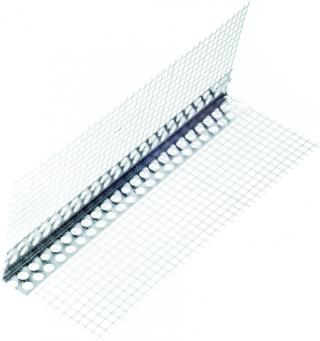 NALS aliumininis kampuotis su tinkleliu