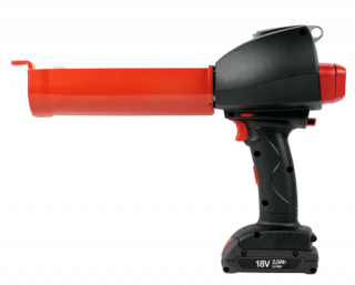 R-GUN Battery Extrusion Gun with Dosing 380 ml