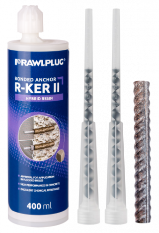 R-KER-II Hybrid resin with Rebars as an Anchor