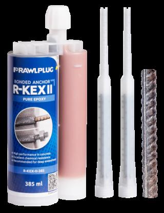 R-KEX II Epoxymassa med armering som ankare