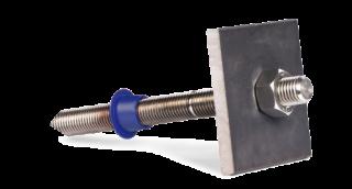 Steel anchoring plate, 10x100x100, black steel