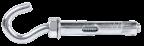 R-KT-H Анкер оцинкований з гаком відкритим для малих навантажень
