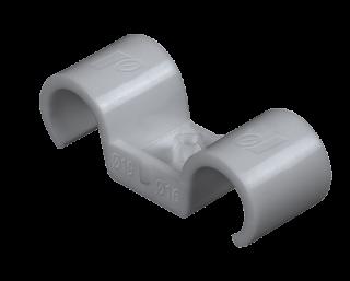 R-SC40-PCD Dubbelt plastclip