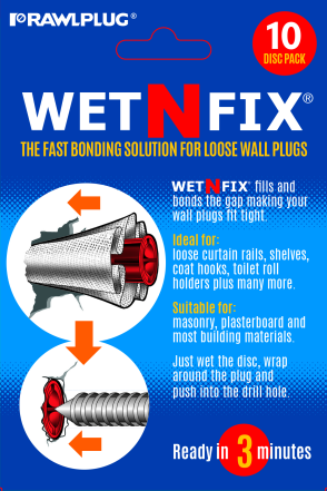 WetNFix the fast bonding solution for loose wall plugs