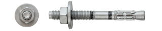 "R-HPTII-ZF ""D"" Zinc Flake Throughbolt with large washer"